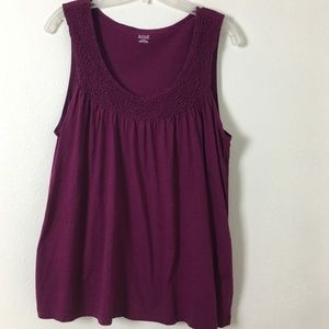 a.n.a sleeveless ruched top XL